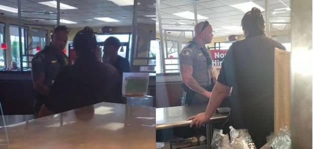 Insatisfeito, cliente de lanchonete chamou a polícia para um sem-teto. O oficial pagou o almoço do mendigo (Com vídeo)