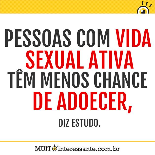 Pessoas com vida sexual ativa têm menos chances de adoecer, diz estudo.