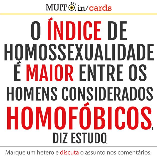 O índice de homossexualidade é maior entre homens considerados homofóbicos, mostra estudo.