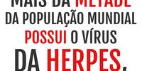 Mais da metade da população mundial possui o vírus da herpes, revela pesquisa.