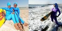 Como as muçulmanas vão à praia e à piscina?