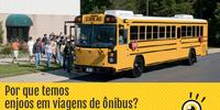 Por que temos enjoos em viagens de ônibus? Por que algumas pessoas sentem esse enjoo e outras não?