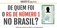 De quem foi o RG de número 1 do Brasil?